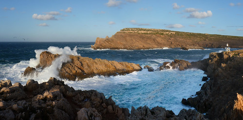 Panoramic view on the rugged North coast of Menorca | by B℮n