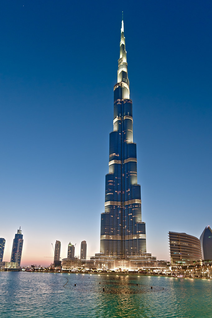 Burj Khalifa In Dubai With Its 828 Meter Height It S The