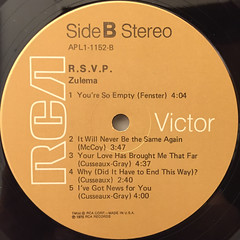 ZULEMA:R.S.V.P.(LABEL SIDE-B)
