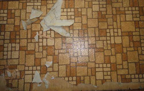 Residential Resilient Sheet Flooring With Asbestos Backing