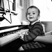Luca on the piano