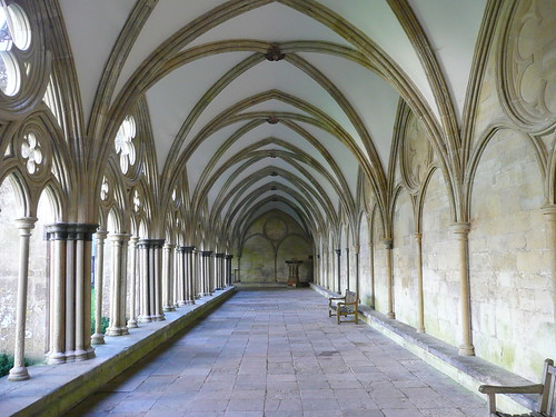 Salisbury, England Cathedral cloister corridor | by army.arch