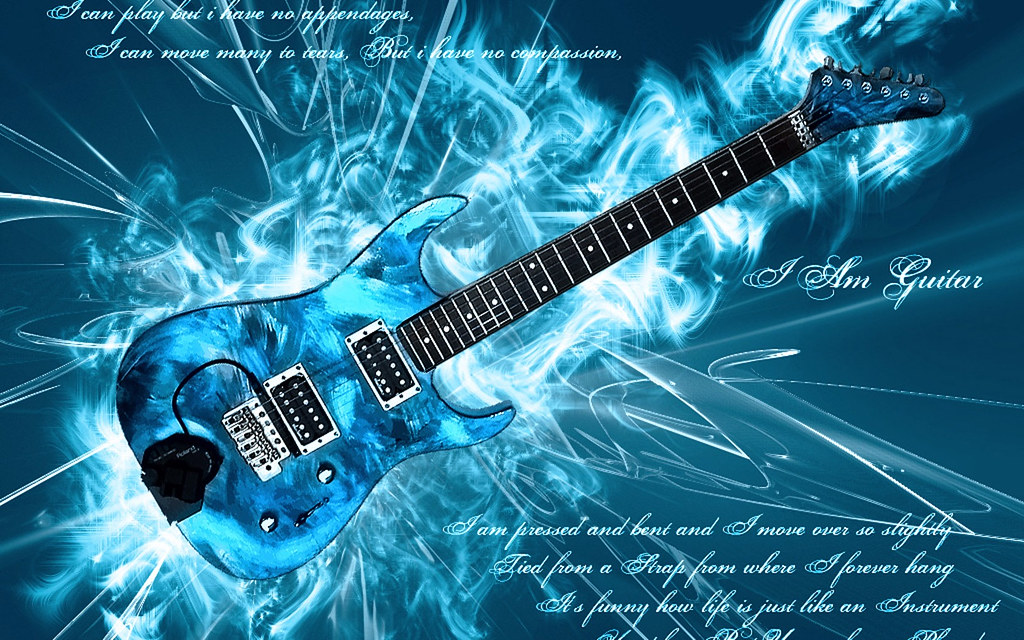 Blue Electric Guitar Mmilin32 Flickr