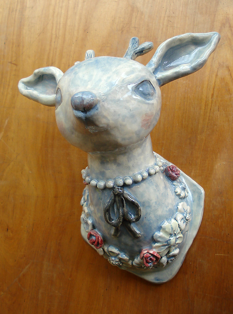Ceramic Deer Head The Latest Ceramic Pieces A Deer Head