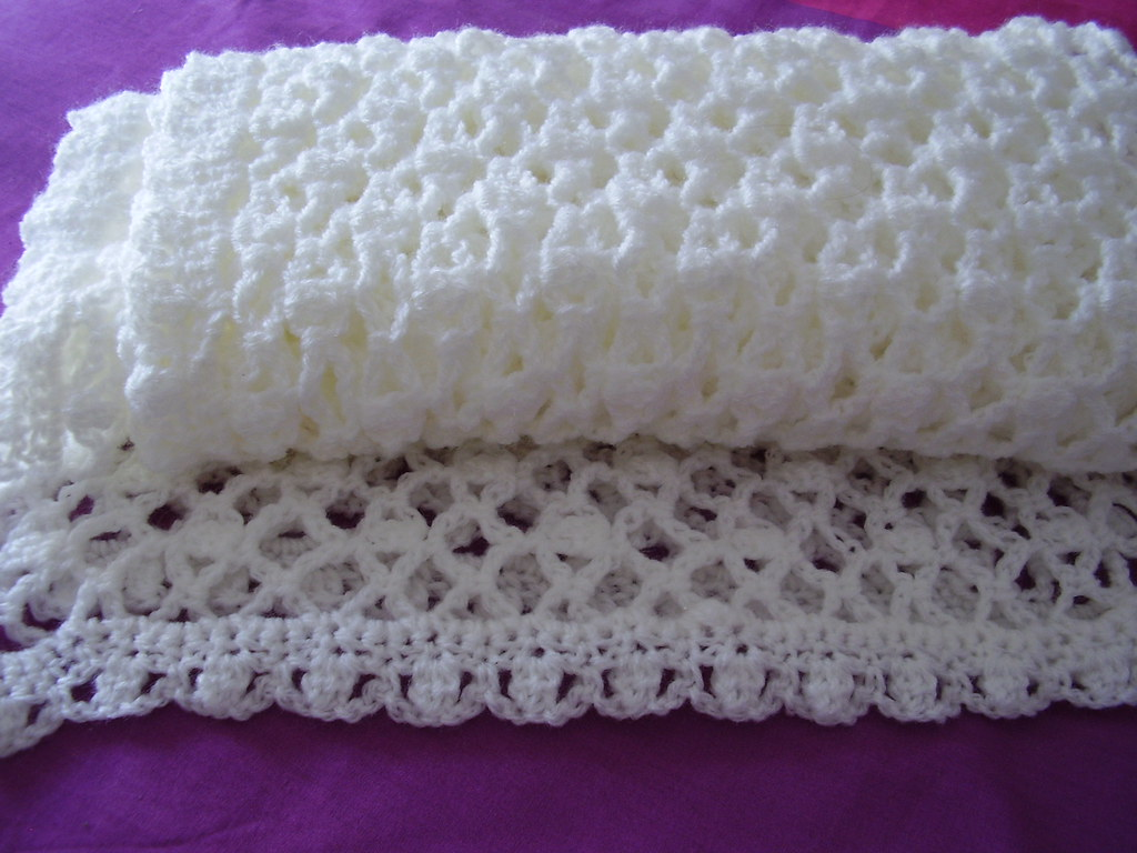 Baby Shawl Crochet White 006 | This is the start of my NEW B… | Flickr