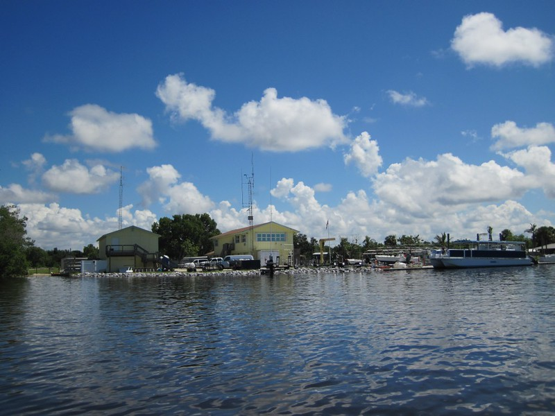Back at the Everglades City ranger station, on Chokoloskee Bay