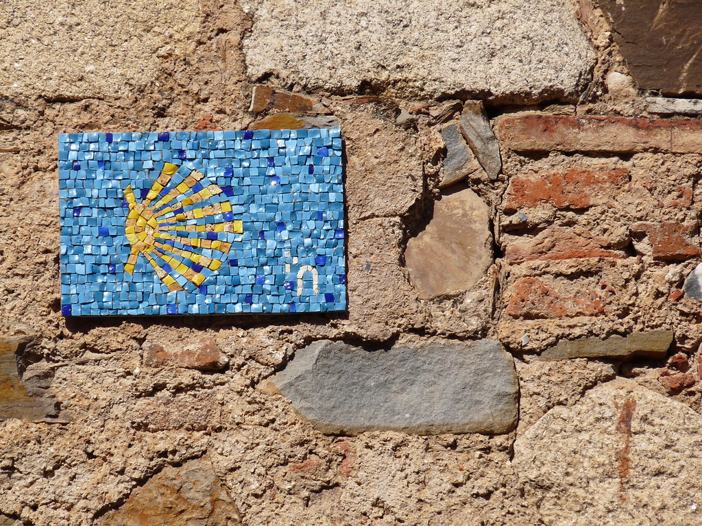 Mosaic Scallop Shell Symbol Of The Camino De Santiago Flickr