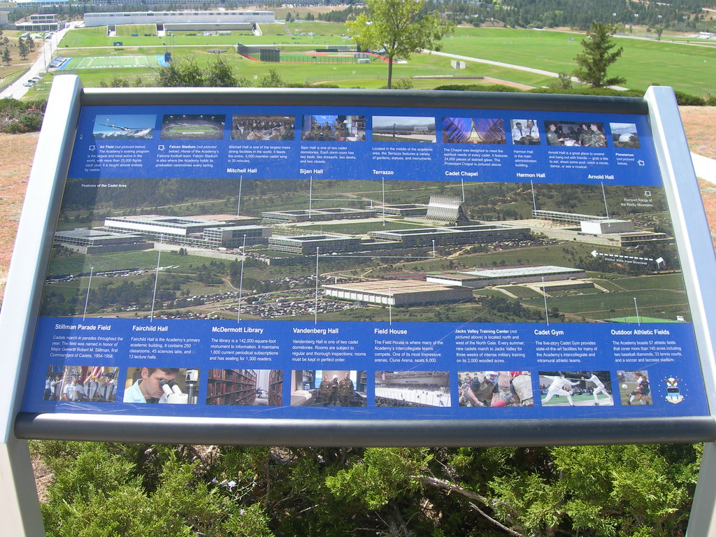 Air Force Academy Campus Map Located At The Base Of The Ro Flickr - Air force academy map