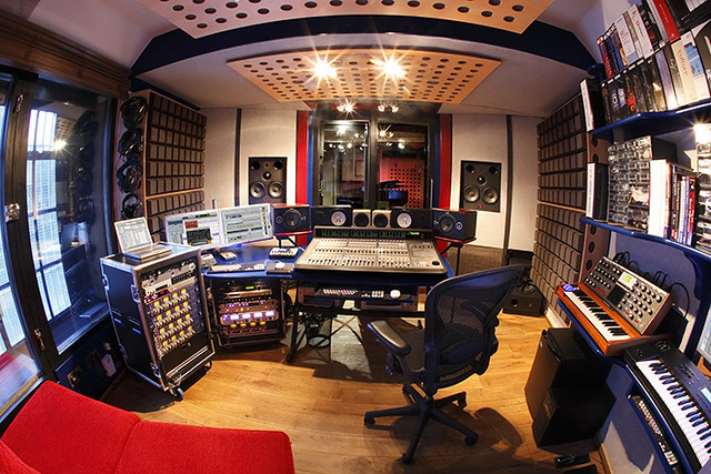 Recording Studio Control Room Fisheye Small Flickr Photo Sharing