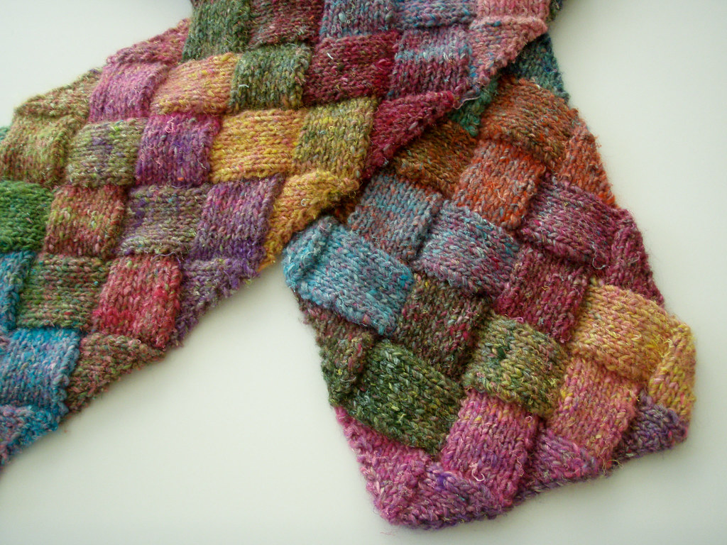 Entrelac Scarf | My Entrelac Scarf Pattern Available for fre… | Flickr