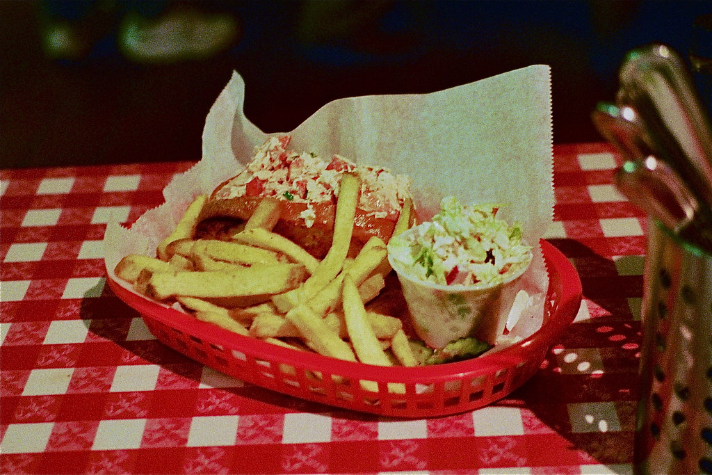 Maine lobster roll, cole slaw, french fries | Old Port Lobst… | Flickr