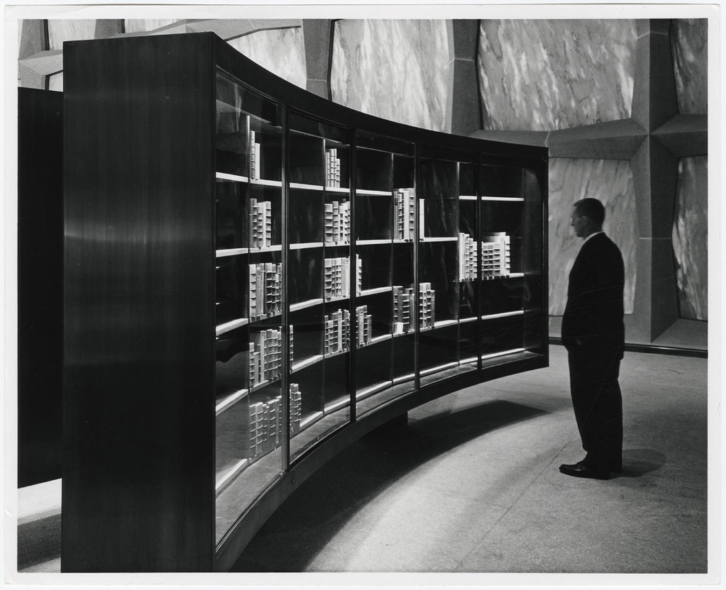 Photograph Of Unidentified Man Viewing Contents Of Displa