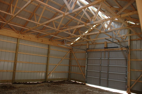Inside Gable End Finished Product The Barn Is Complete