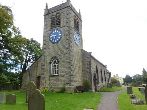 St Peter's Church, Addingham | The blue clockface was an ...