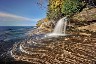 Miners Beach Falls , Pictured Rocks National Lakeshore, Michigans upper  peninsula  (explore # 61 Oct 14, 2010) | by Michigan Nut