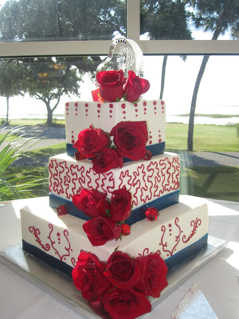 red and navy blue wedding cakes marine corps wedding cake white and blue marine 19083