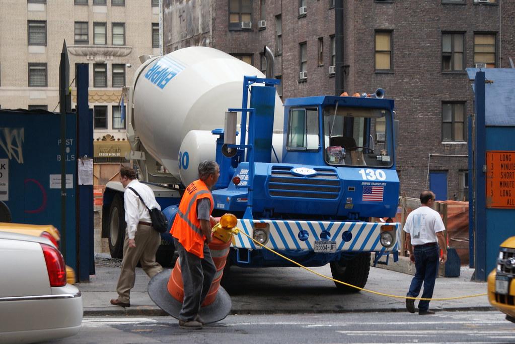 Empire Transit Mix : Empire transit mix concrete truck in new york city j