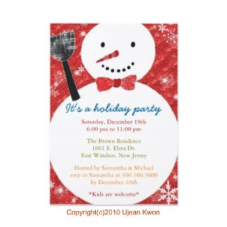 cute snowman holiday party invitations cute snowman design flickr