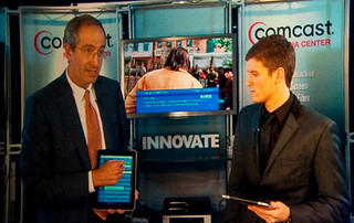 The Cable Show 2010: Video Still: Brian Roberts Demos The Xfinity Remote Prototype | by The Cable Show