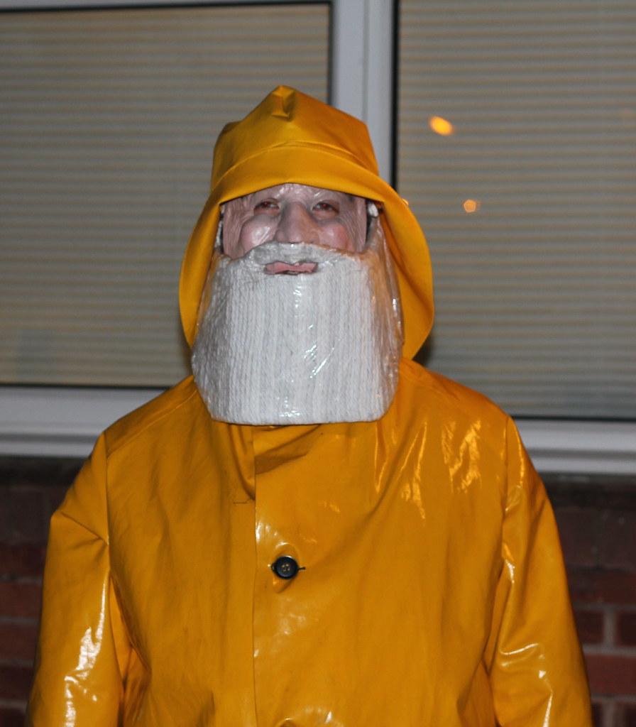 Whitstable Yellow Fisherman Trawlerman Statue Costume Hall