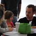 Father and daughter at the 4th annual Children's Reading Celebration & Young Authors' Fair