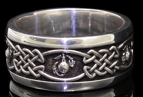 Marine Corps Wedding Band Designed And Handcrafted By Veterans Made In USA