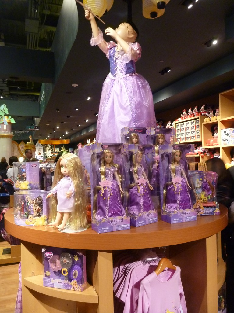 tangled merchandise stand at disney store times square flickr. Black Bedroom Furniture Sets. Home Design Ideas