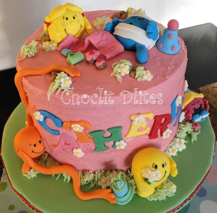 Catherines Mr Men And Little Miss Cake Chocolate Sponge C Flickr
