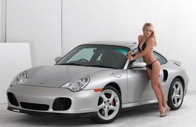 Sexy Girl Porsche 911 2 Beautiful Girl With A Silver