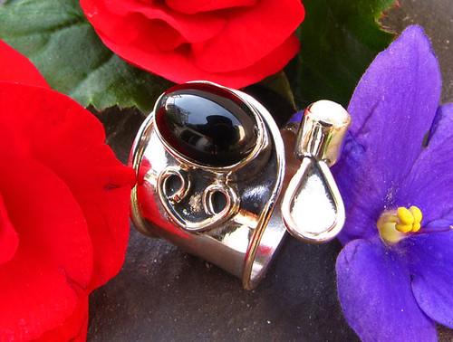 indischer silberring mit onyx und perle jodhpur 8 flickr. Black Bedroom Furniture Sets. Home Design Ideas