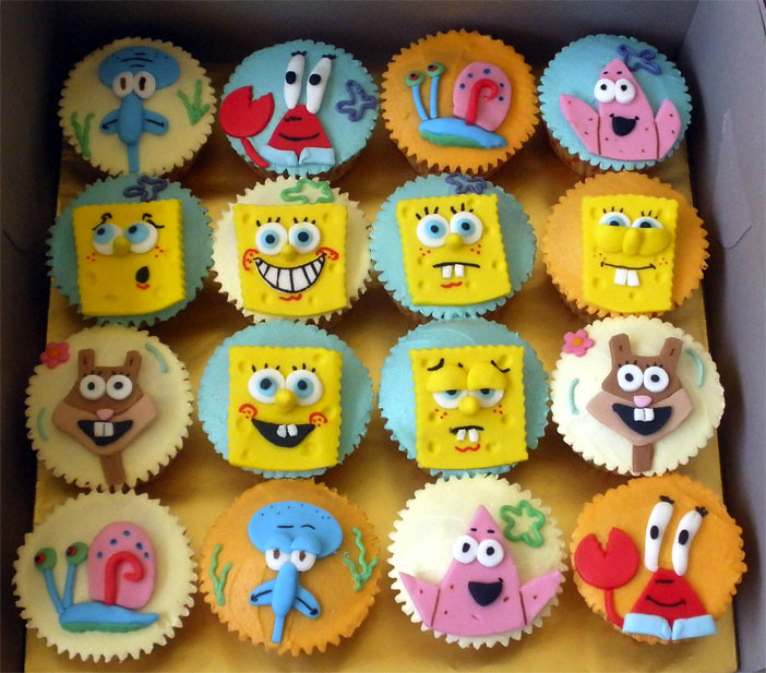 Spongebob Amp Friends Cupcake Tracey Chooi Flickr