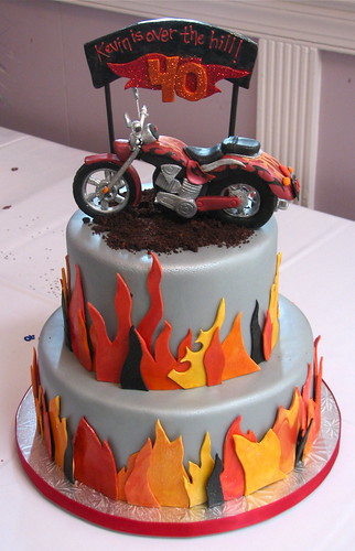 Motorcycle Themed Birthday Cake