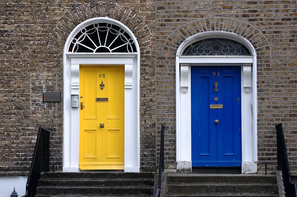 Coloured Doors In Dublin Day 2 Of My Upload A Photo A