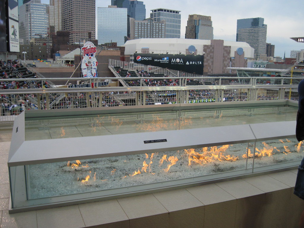 Firepit On Bud Roof Deck At Target Field Nice Fire To