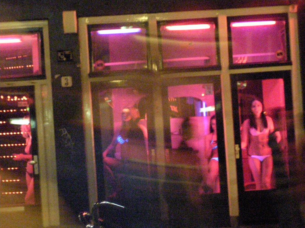 Prostitutes in Red Light District, Amsterdam   Girls that