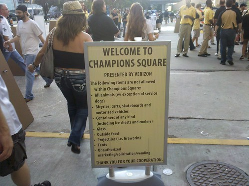 Shit you can't do in Champions Square (Presented by Verizon)
