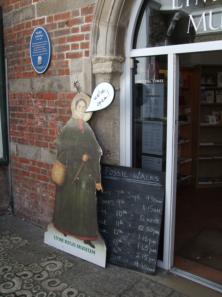 Mary Anning Welcomes Visitors To The Lyme Regis Museum D