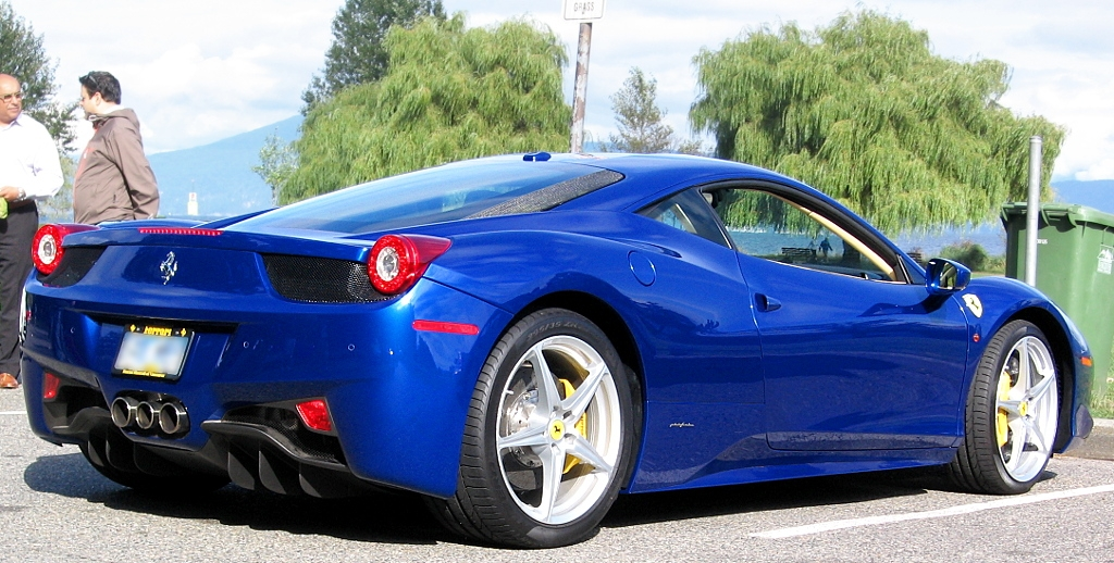 blue ferrari 458 italia by eych you bee ee ahr - Ferrari 458 Italia Blue
