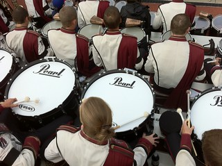 In the stands in Michigan | by UMassDrumline