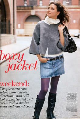 Denim Skirt & Boots Fashion | Flickr