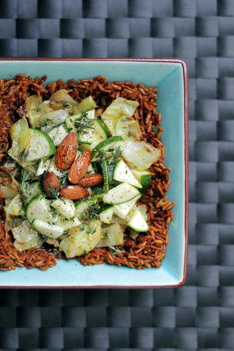 Camargue Red Rice with Cabbage and Courgettes | by Salad Pride