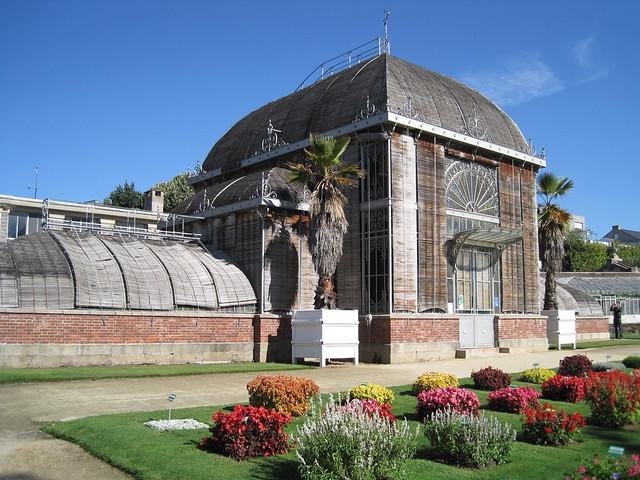 Jardin des plantes de nantes vue ext rieure du palmarium for Jardin des plantes nantes