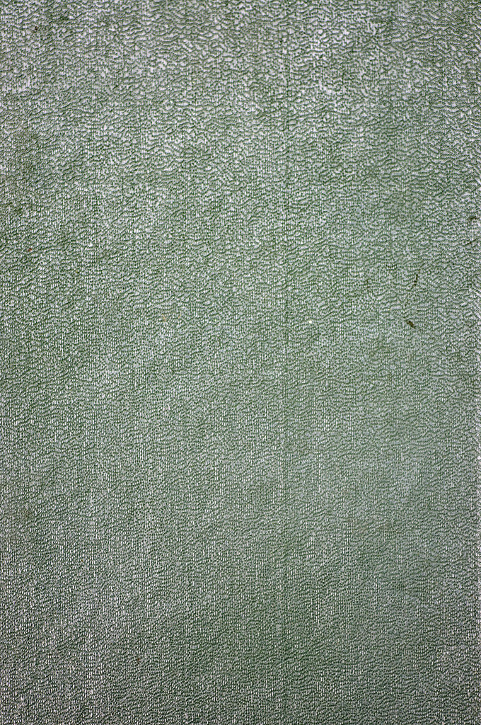 Hardcover Book Texture : Punctured texture of green book cover