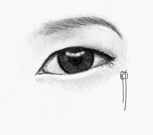 how to draw realistic chinese eyes
