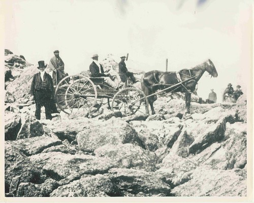 Joseph M. Thompson insures his place in history by driving the first horse drawn wagon to the summit on the Mt Washington Carriage Road - three weeks before the official opening day. | by Mt.Washington Auto Road