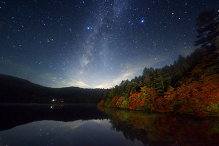 Galaxy autumn lake | by masahiro miyasaka