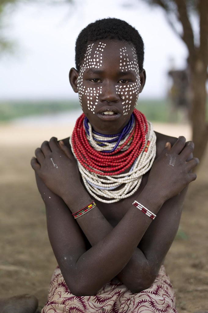 Young girl from the Karo Tribe in Murle, Omo Valley, Ethio ...