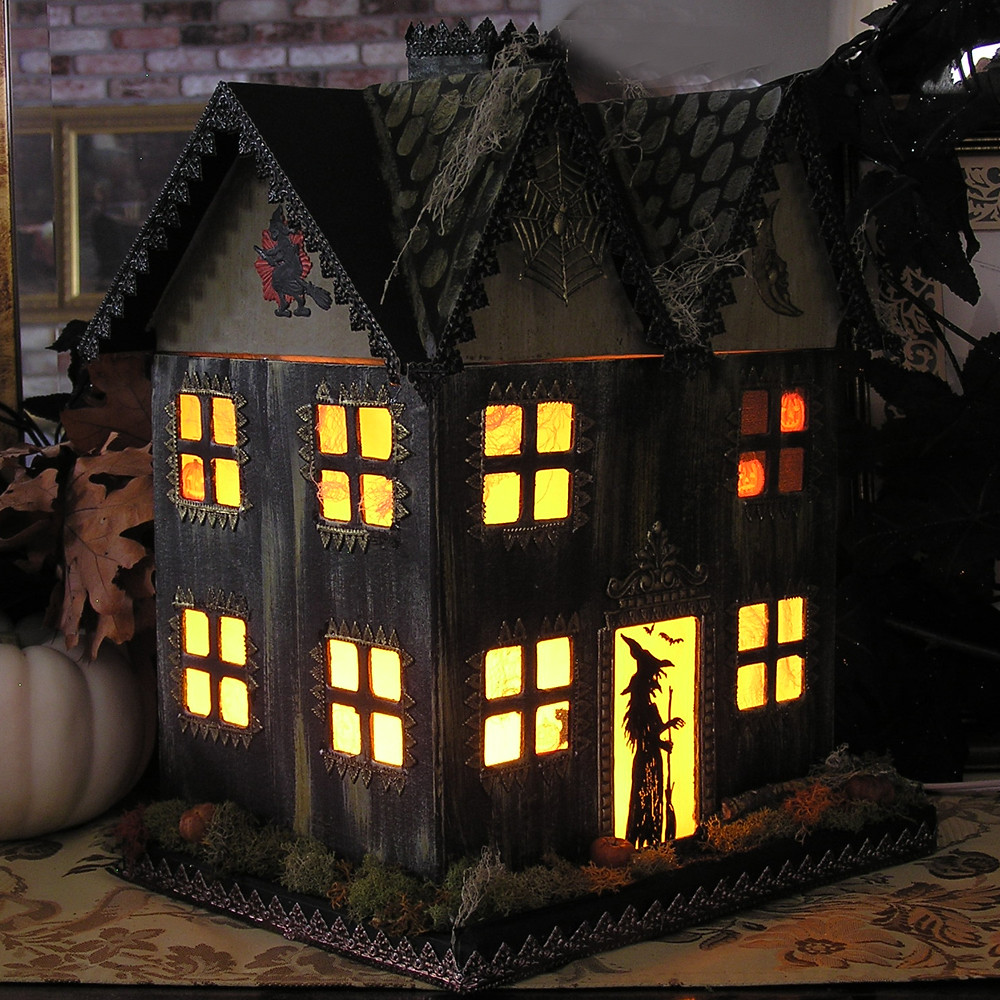 Paper Mache Haunted House By Iva Wilcox 169 2010