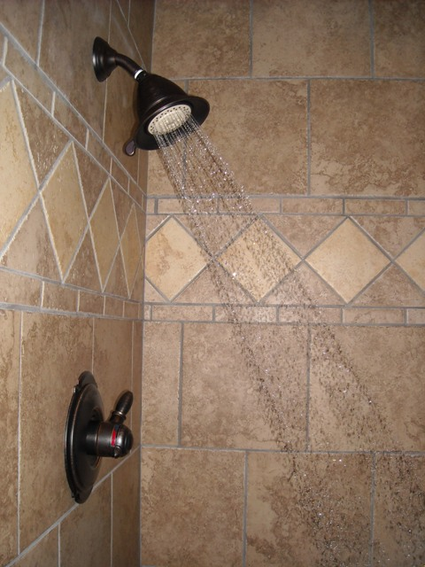 Custom tiled shower flickr photo sharing - Bathroom tiles design patterns to consider ...