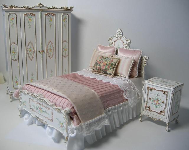dollhouse miniature bedroom set flickr photo